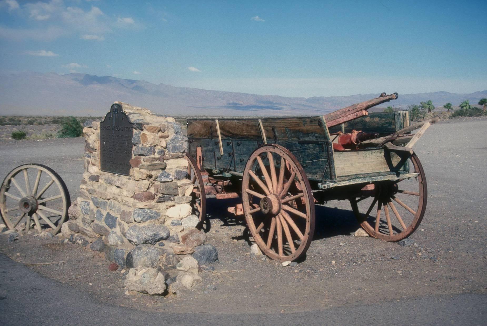 El monumento Burnt Wagons donde quemaron sus carretas los descubridores
