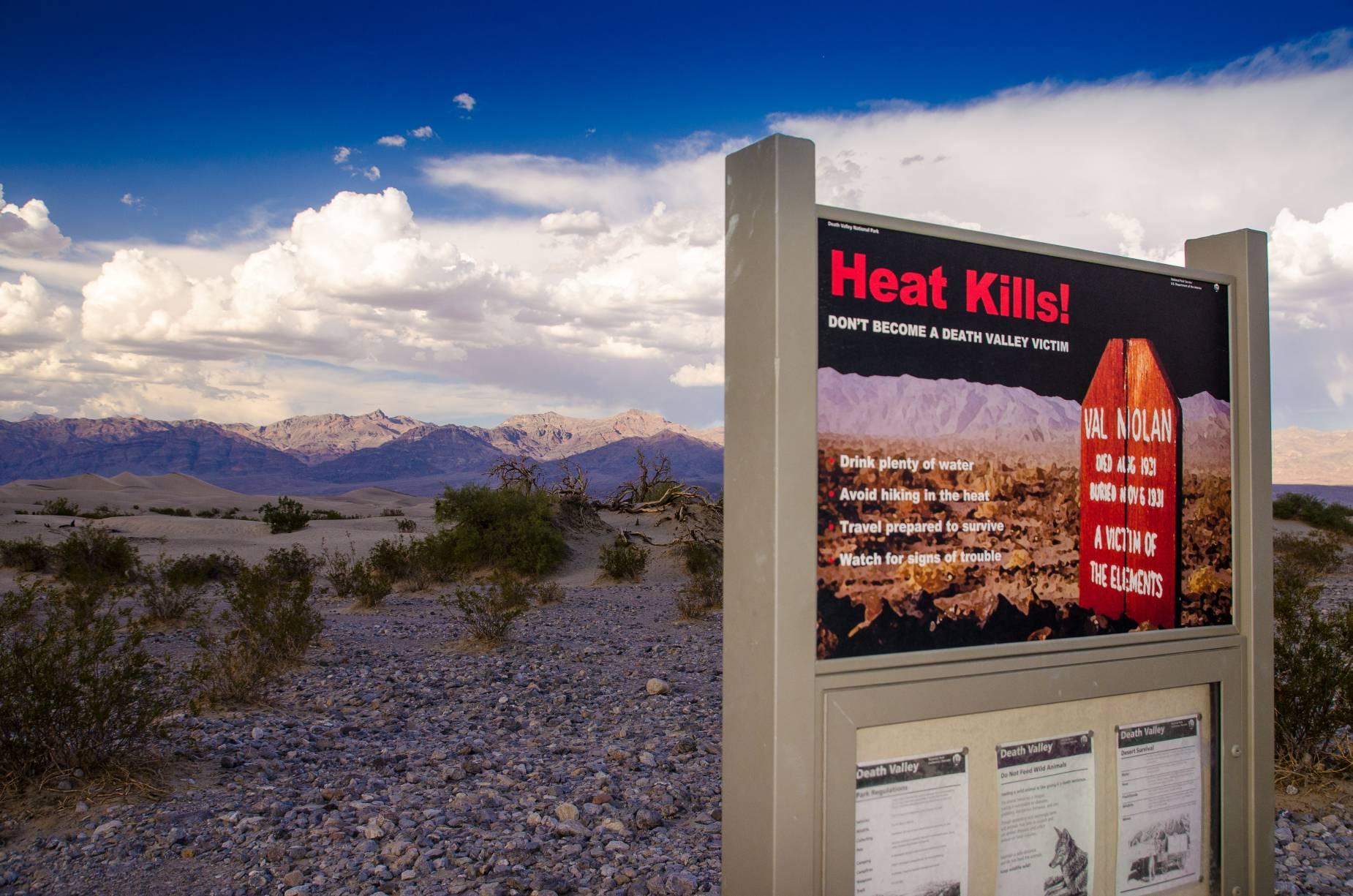 A pesar de las advertencias, aún siguen muriendo incautos en Death Valley