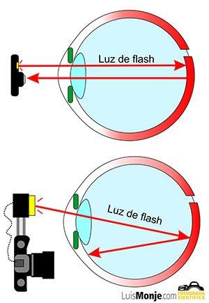 Reflexion en la retina